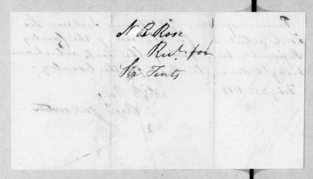 Neil B. Rose to Andrew Jackson, February 25, 1813