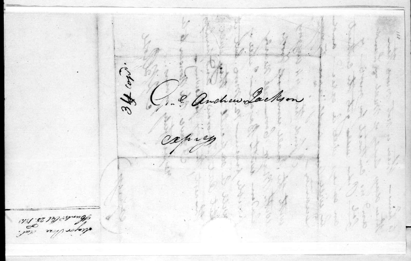 Neil B. Rose to Andrew Jackson, October 25, 1813