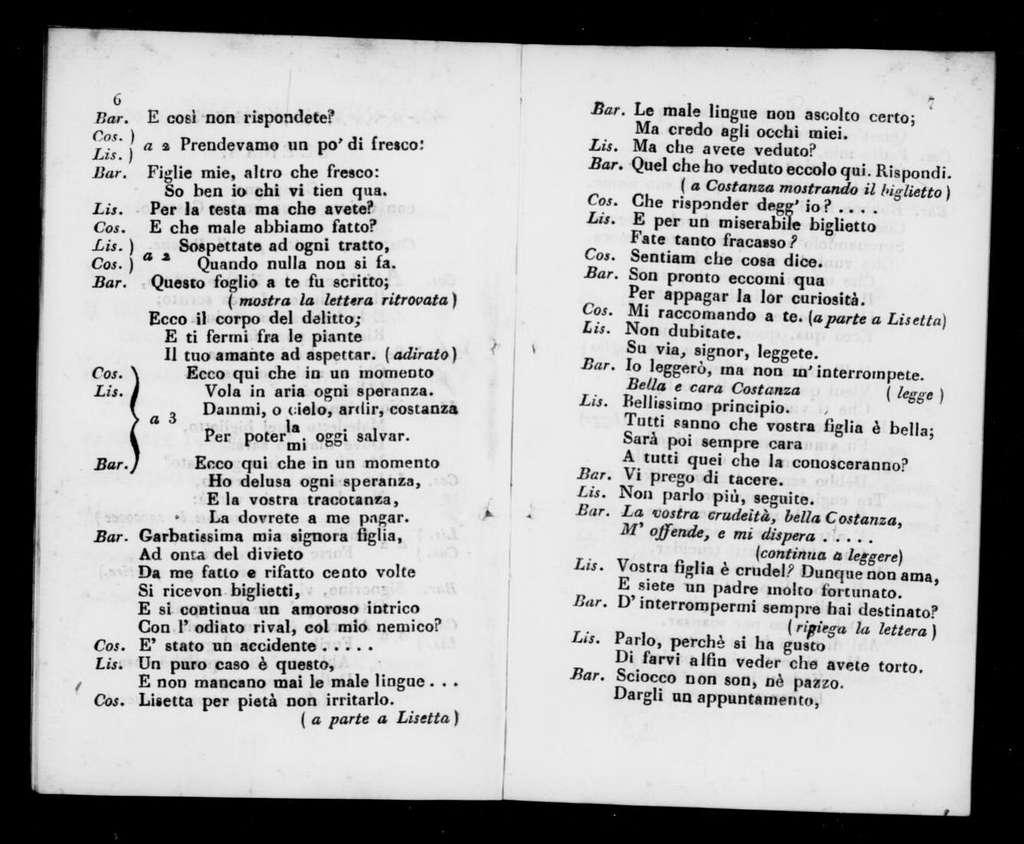 Pasquale. Libretto. Italian