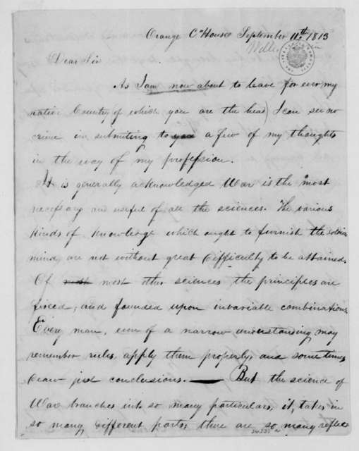 Perrin Willis to James Madison, September 11, 1813.