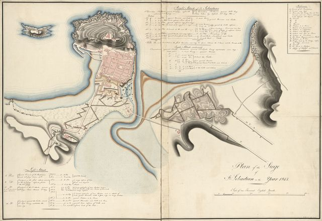 Plan of the siege of St. Sebastian in the year 1813.