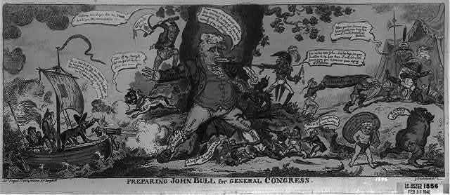 Preparing John Bull for general congress / G. Cruikshank, fect.