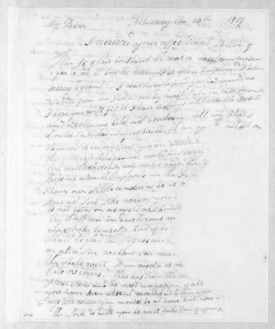 Rachel Donelson Jackson to Andrew Jackson, February 28, 1813