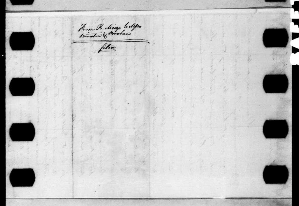 Return Jonathan Meigs to Winston & Brohon, October 30, 1813