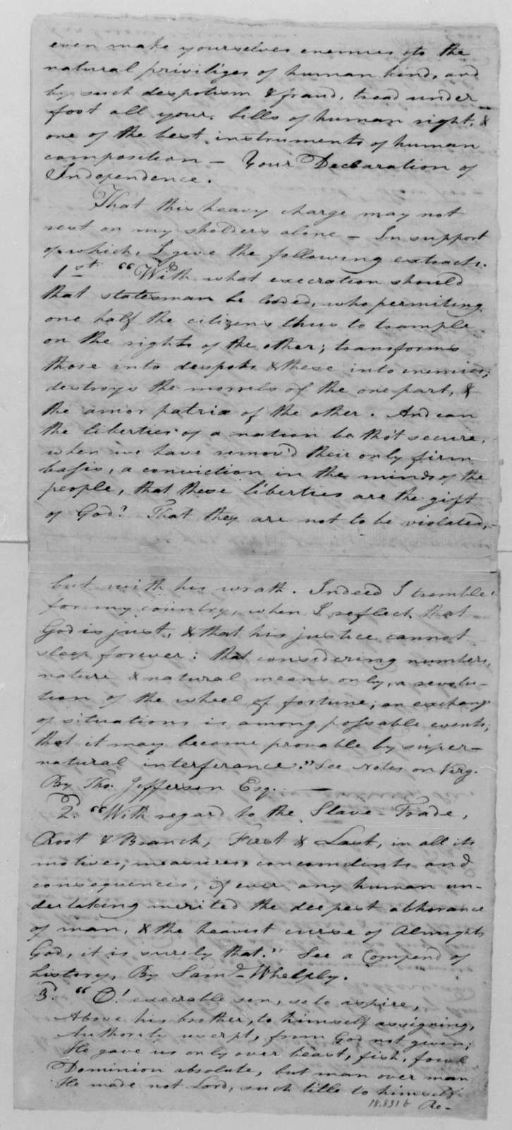 S. Potter to James Madison, February 7, 1813.