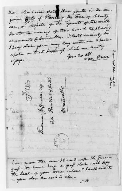 Samuel Brown to Thomas Jefferson, May 26, 1813