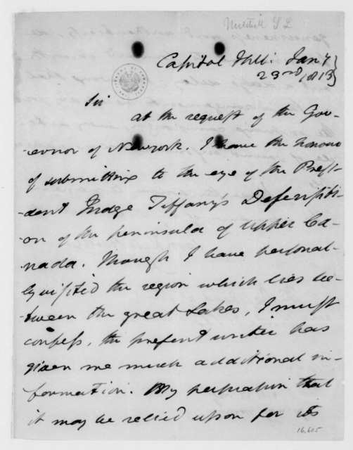 Samuel Mitchill to James Madison, January 23, 1813.