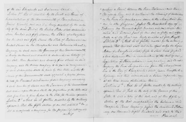 Simon Snyder to James Madison, April 14, 1813. Includes an extract of an Act of the Pennsylvania Legislature.