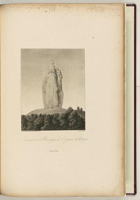 Sommet de la montagne des Organos d'Actopan / dessiné par Marchais d'après un croquis de M. de Humboldt ; gravé par Bouquet en 1813.