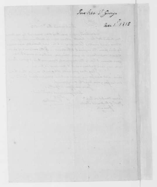 St. George Tucker to James Madison, December 1, 1813.