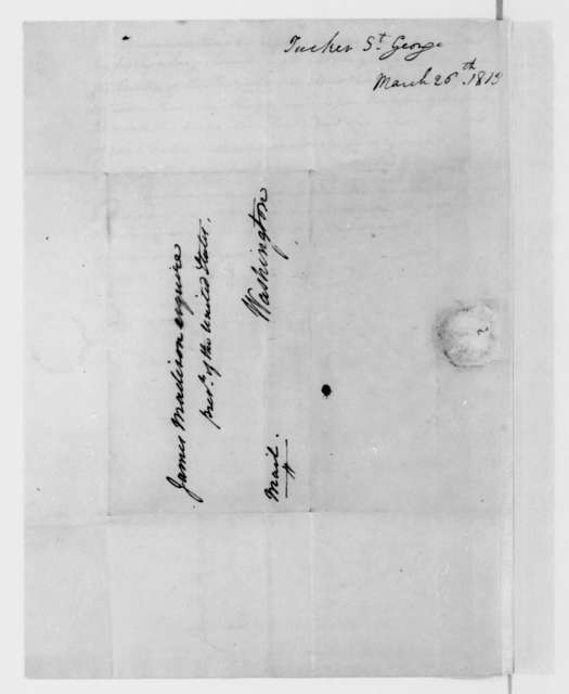 St. George Tucker to James Madison, March 26, 1813. Notes on his telegraph model.