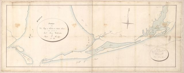 Survey from the bay of Perdido to Mobile Point made by order of Genl. James Wilkinson /