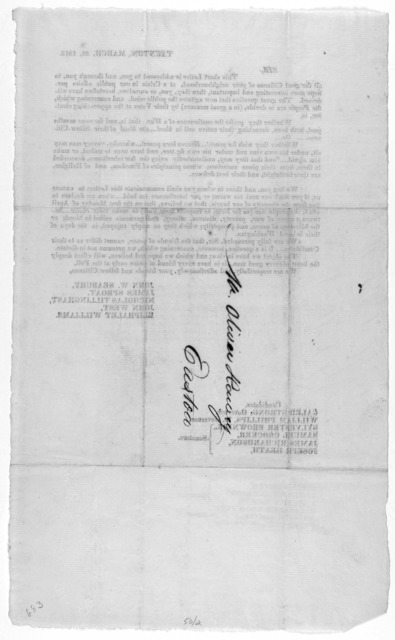 Taunton, March 22, 1813. Sir. This short letter, is addressed to you, and through you, to all the good citizens of your neighborhood, at a crisis in our public affairs perhaps more interesting and important, than they, you, or ourselves, heretof