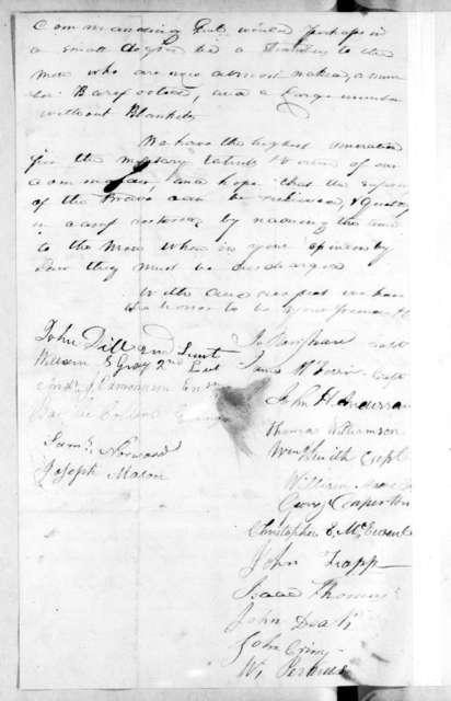 Tennessee 2nd Infantry Regiment to Andrew Jackson, November 13, 1813