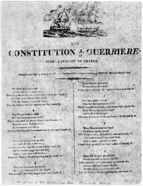 The Constitution & Guerriere. Tune- Landlady of France.