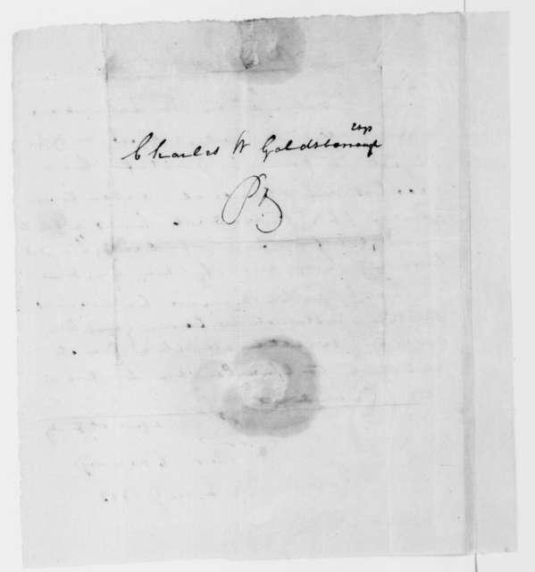 Thomas Carbery to Charles W. Goldsborough, January 19, 1813.