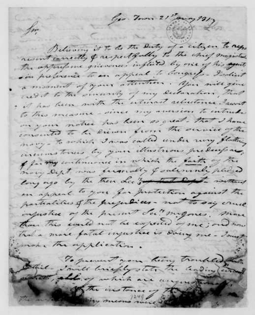 Thomas Ewell to James Madison, May 21, 1813.