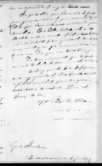Thomas Flournoy to Andrew Jackson, November 9, 1813