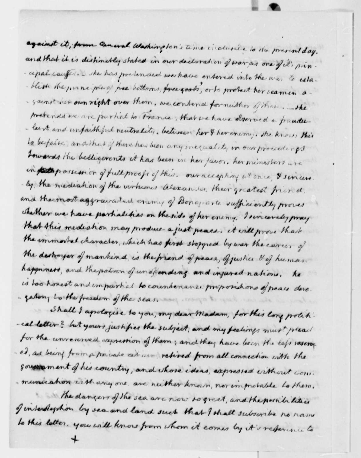 Thomas Jefferson to Anne L. G. N. Stael-Holstein, May 28, 1813