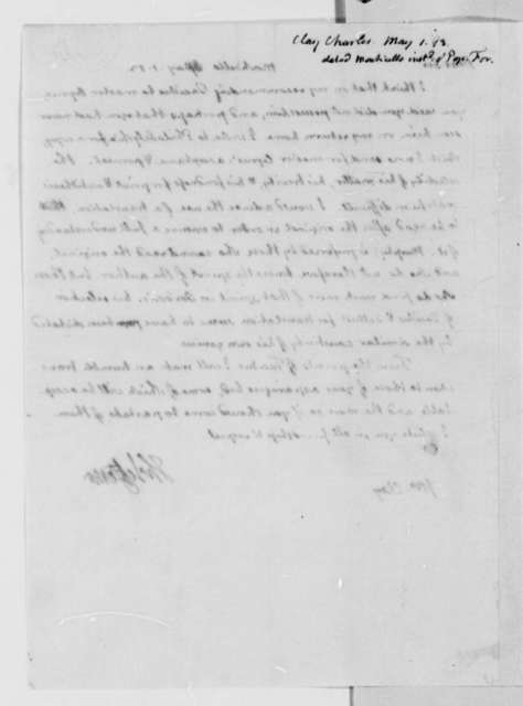 Thomas Jefferson to Charles Clay, May 1, 1813