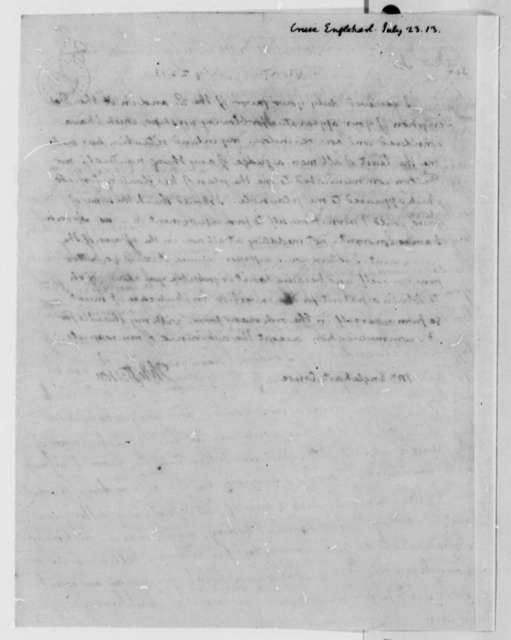 Thomas Jefferson to Englehart Cruse, July 23, 1813
