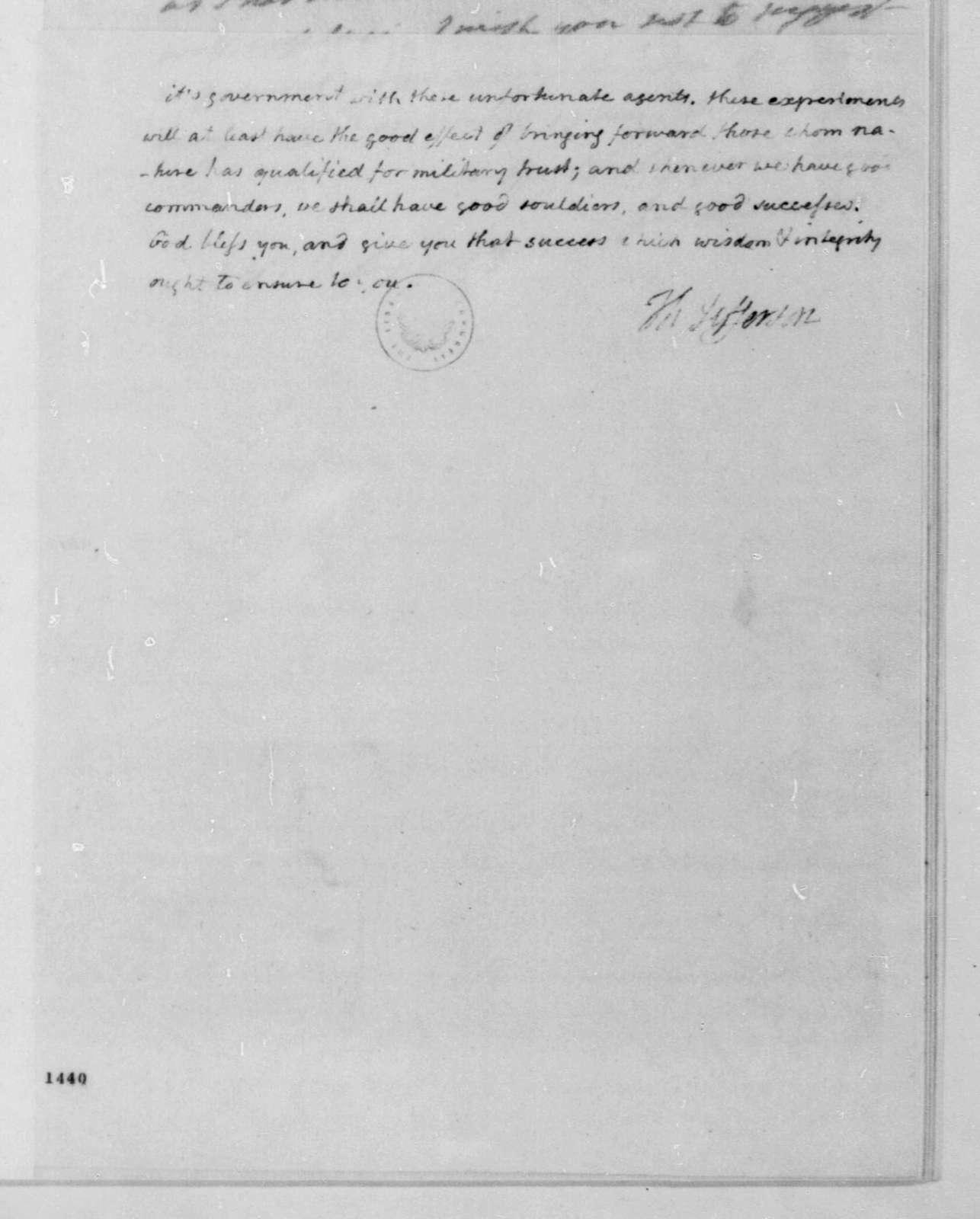 Thomas Jefferson to James Madison, February 21, 1813.