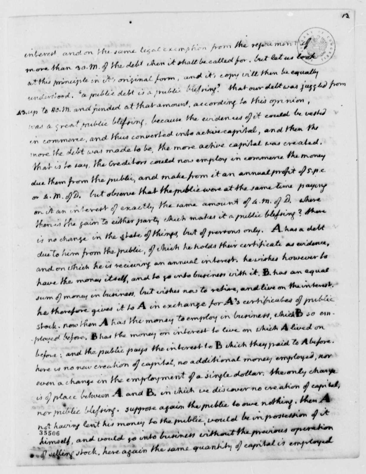 Thomas Jefferson to John Wayles Eppes, November 6, 1813