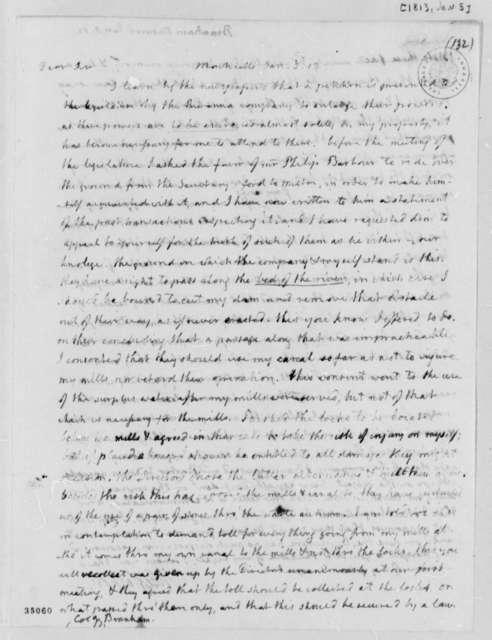 Thomas Jefferson to Ninrod Branham, January 5, 1813