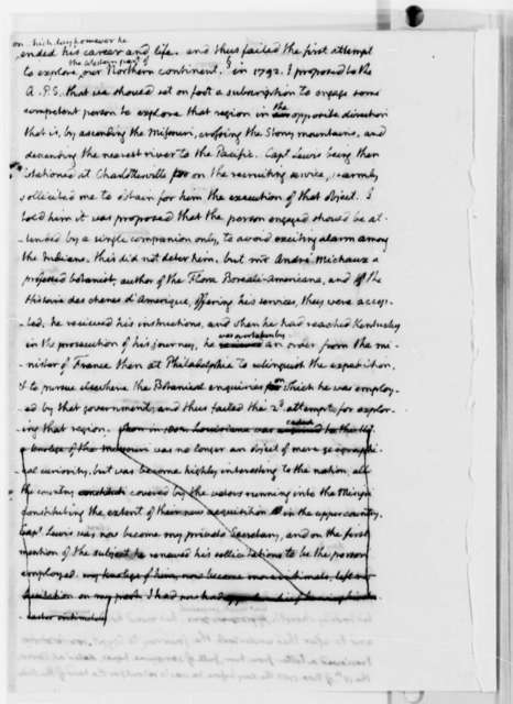 Thomas Jefferson to Paul Allen, August 18, 1813, with Meriwether Lewis Biography