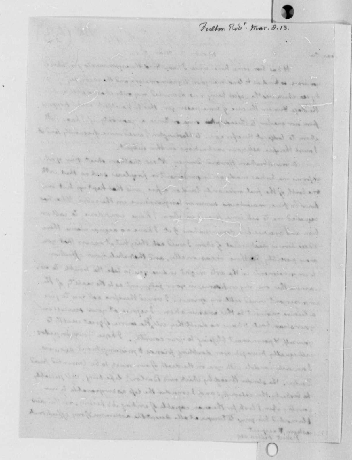 Thomas Jefferson to Robert Fulton, March 8, 1813