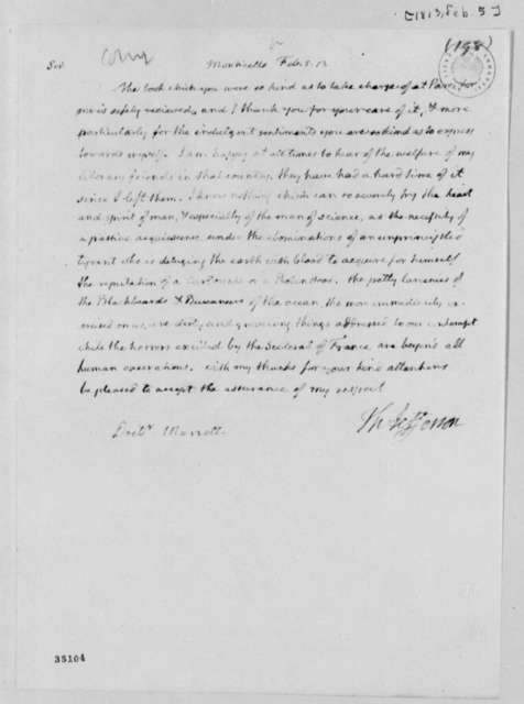 Thomas Jefferson to Robert Morrell, February 5, 1813