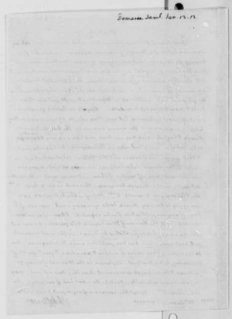 Thomas Jefferson to Samuel R. Demaree, January 12, 1813