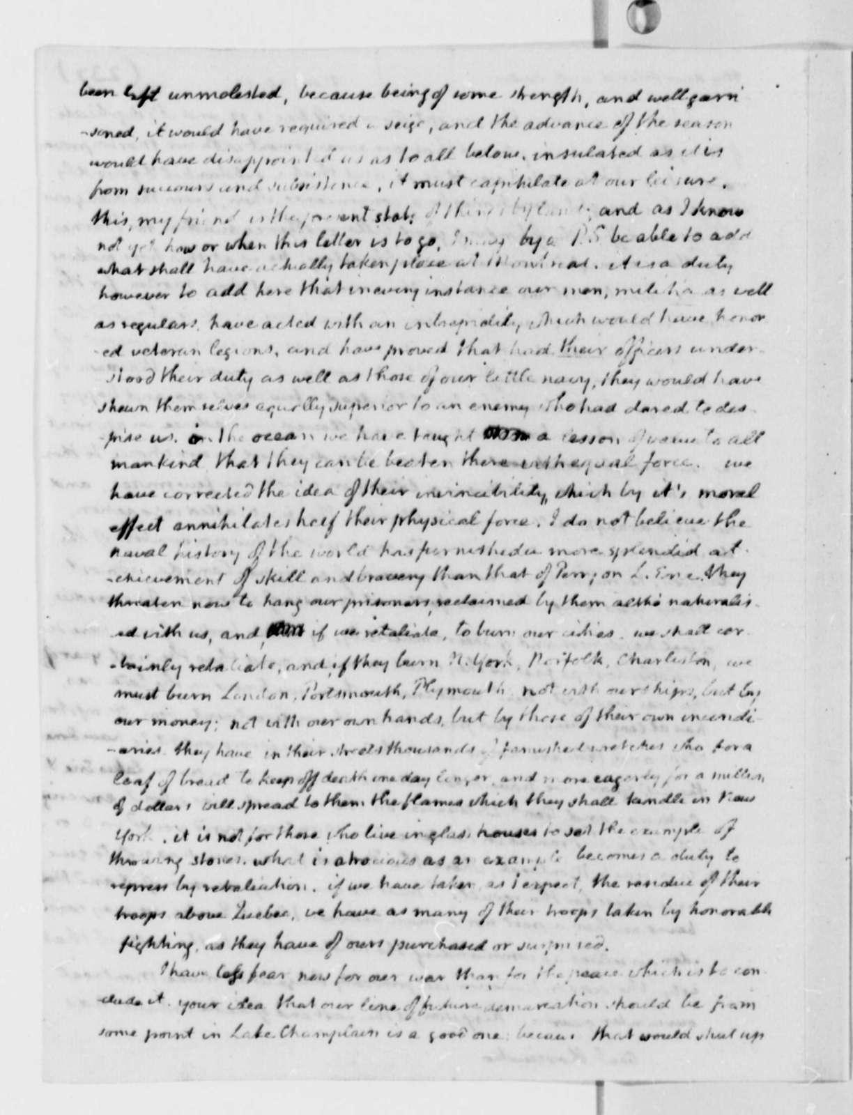 Thomas Jefferson to Thaddeus Kosciuszko, November 30, 1813