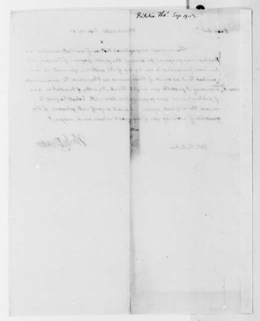 Thomas Jefferson to Thomas Ritchie, September 19, 1813