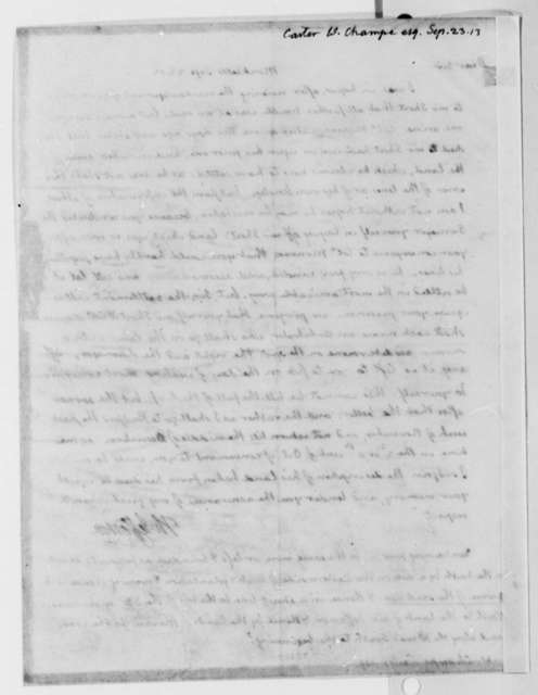 Thomas Jefferson to William Champe Carter, September 23, 1813
