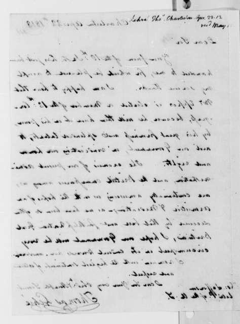 Thomas Lehre to Thomas Jefferson, April 22, 1813