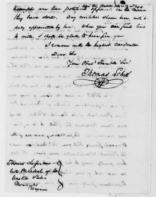 Thomas Lehre to Thomas Jefferson, July 21, 1813