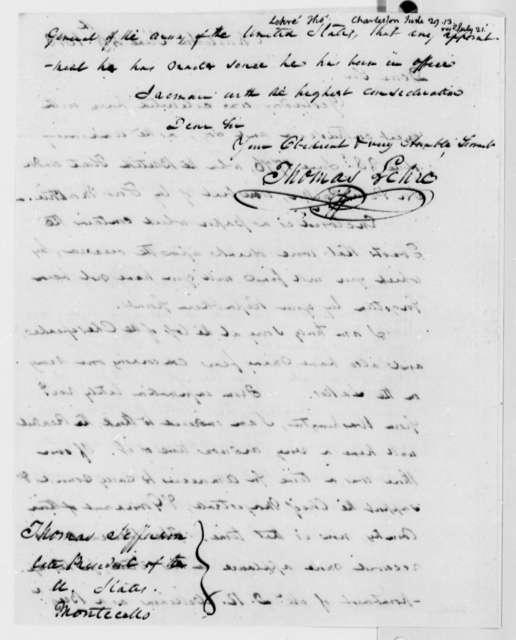 Thomas Lehre to Thomas Jefferson, June 29, 1813