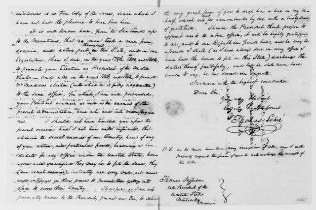 Thomas Lehre to Thomas Jefferson, March 23, 1813.