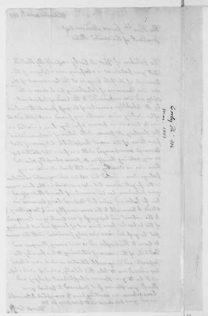 Thomas M. Corby to James Madison, March 17, 1813.