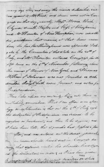 Thomas McKean to Caesar A. Rodney, August 22, 1813