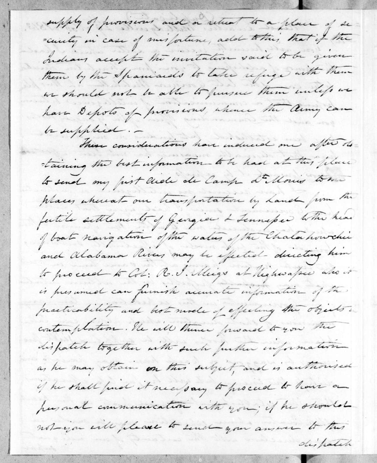 Thomas Pinckney to Andrew Jackson, November 29, 1813