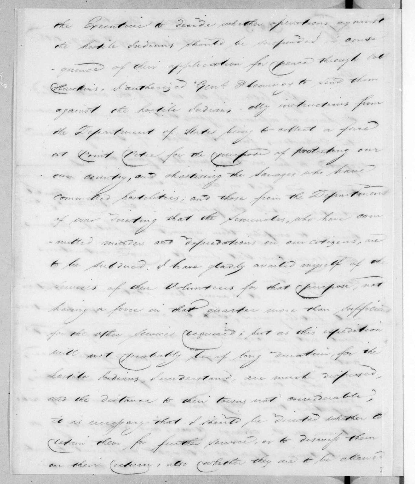 Thomas Pinckney to James Monroe, January 29, 1813