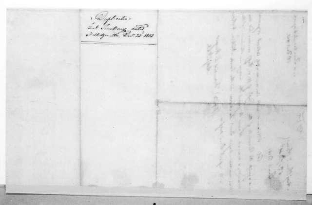 Thomas Pinckney to Willie Blount, December 23, 1813