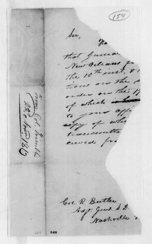Trimble to Robert Butler, November 22, 1813
