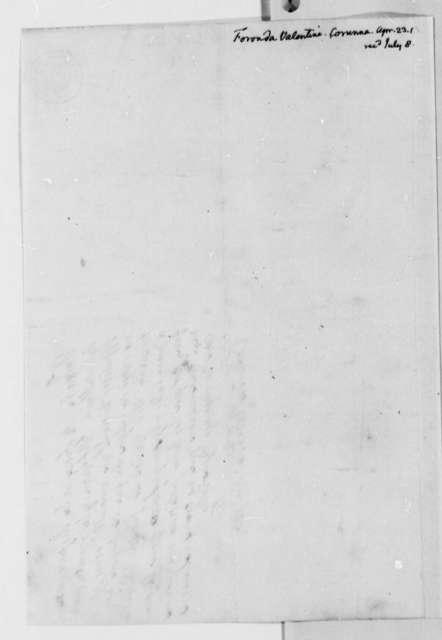 Valentin de Foronda to Thomas Jefferson, April 23, 1813, in Spanish
