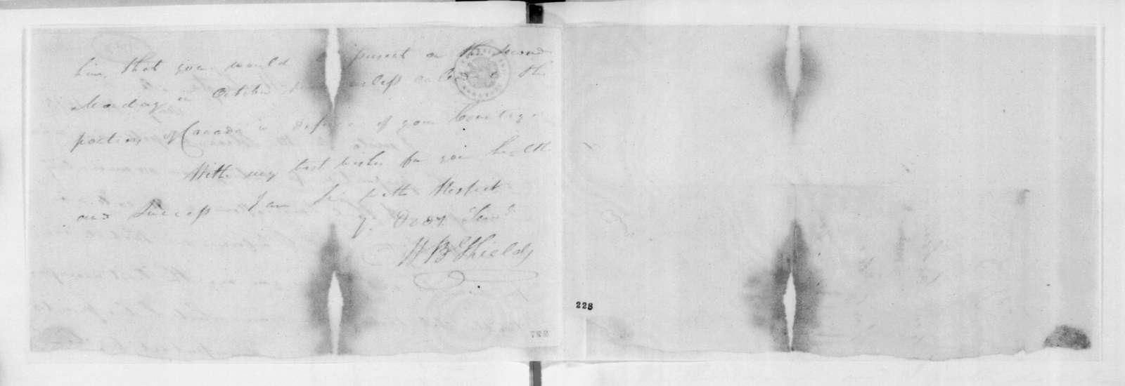 W. B. Shields to Andrew Jackson, August 15, 1813