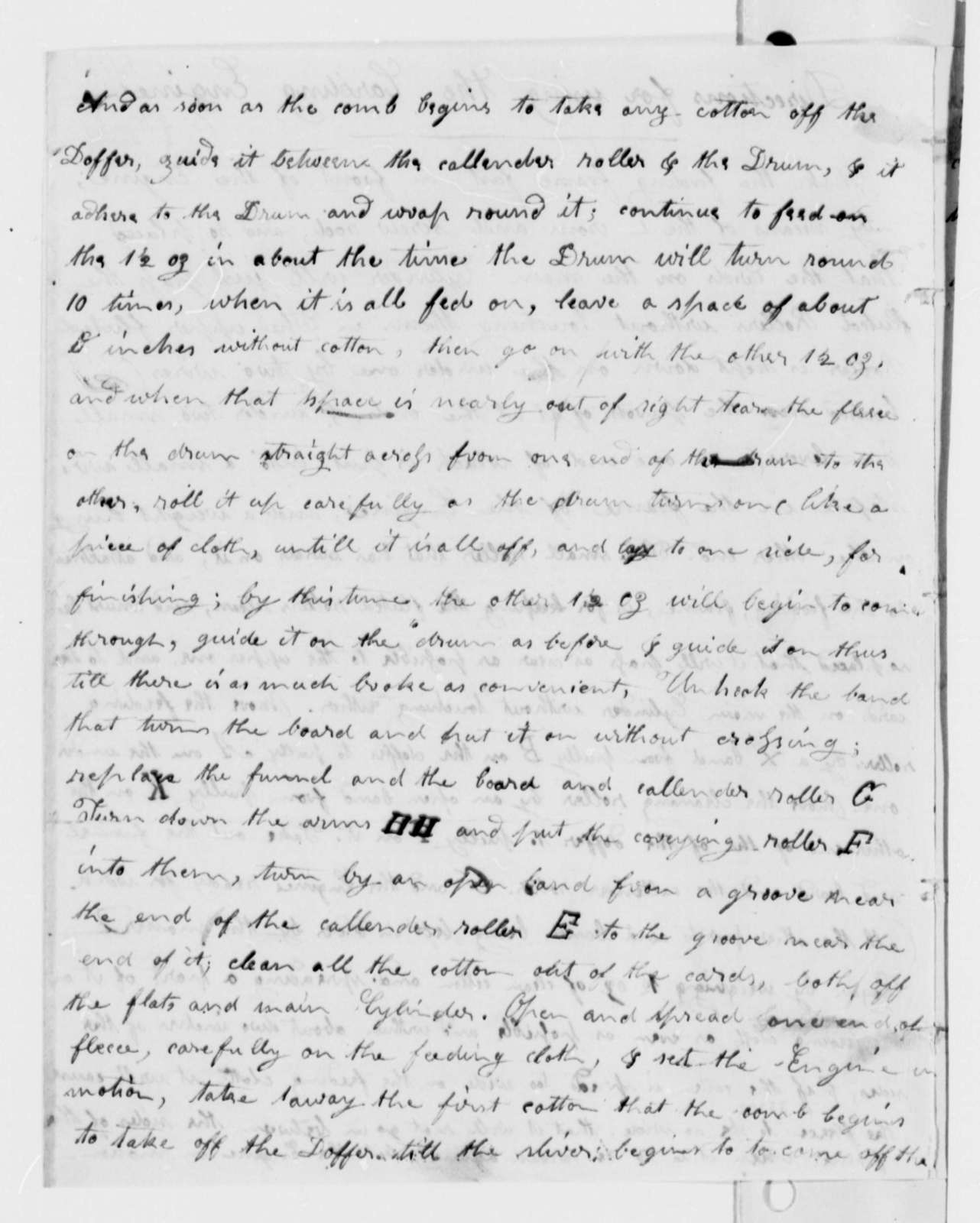 William A. Burwell to Thomas Jefferson, March 13, 1813, with Instructions