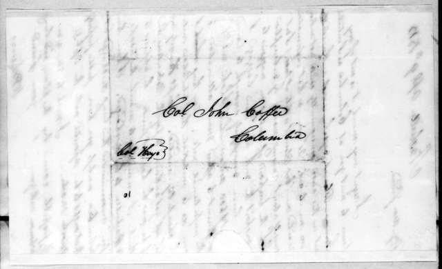 William Berkeley Lewis to John Coffee, April 9, 1813