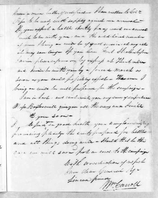 William Carroll to Andrew Jackson, December 16, 1813